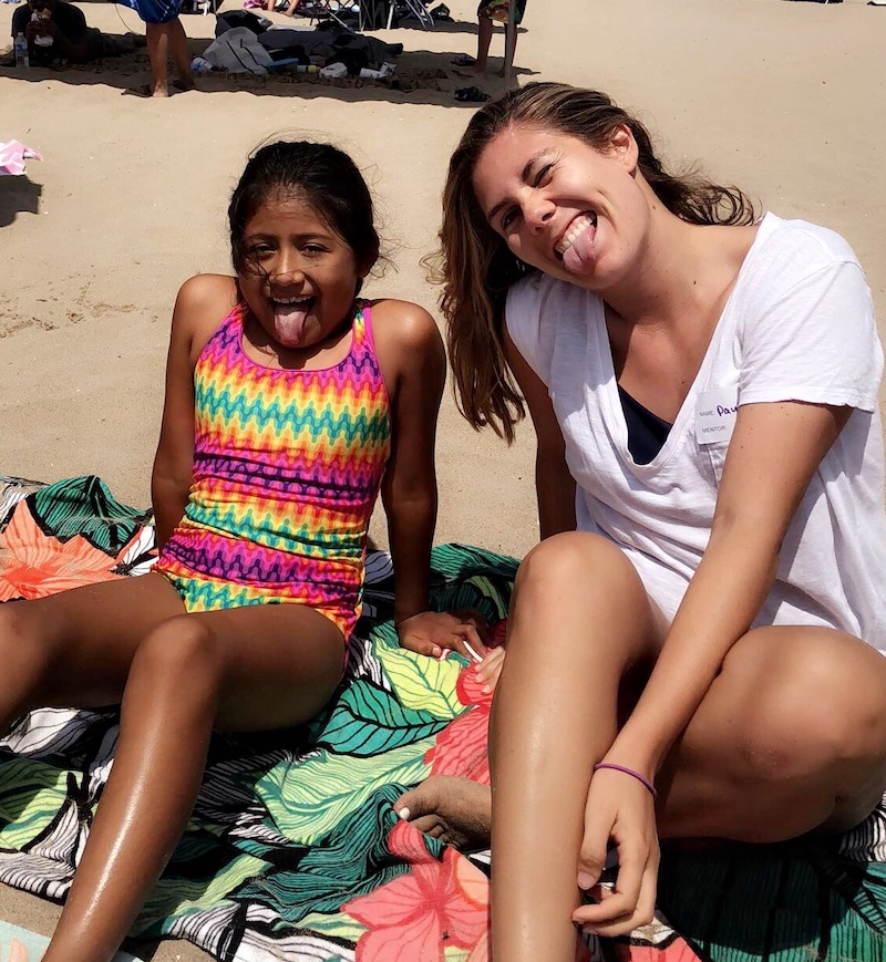 Photo of mentor and mentee friendship Paulina and Arleth