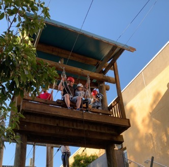 Mentor for the day Vince helps Jaxson conquer his fear of the swing Jaxson is currently waiting for his perfect mentor through Walk With Sally