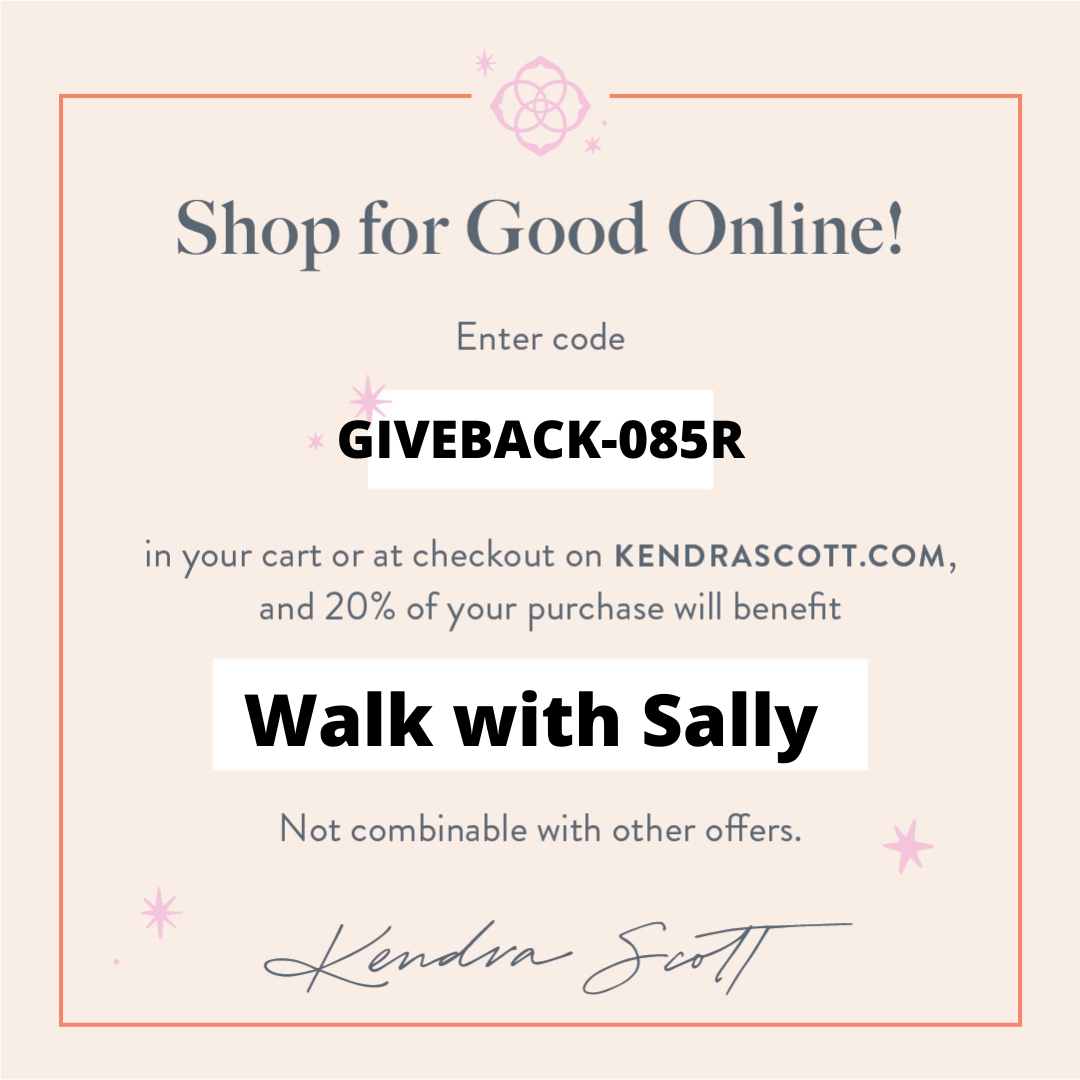 Kendra Scott online shopping give back code for Walk With Sally